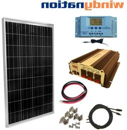 COMPLETE KIT 100 W Watt 100W  Solar Panel + 1500W Inverter 1
