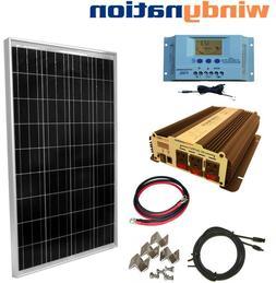COMPLETE KIT 100 W Watt 100W  Solar Panel + 1500W Inverter 1