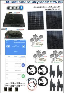Solar KIT 360 Watt 300W Panel Starter kit Charge Controller
