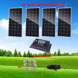400 Watt Complete Kit: 400W Mono Solar Panel for 48V Battery