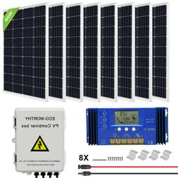 ECO 120W 240W 720W 960W Watt Solar Panel kit 12V/24V Battery