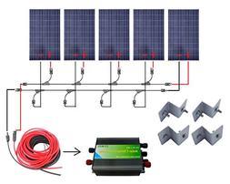 ECO-WORTHY 500 Watts Complete Solar Kit Off-Grid: 5pcs 100W