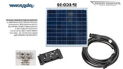 50 WATT COMPLETE SOLAR KIT