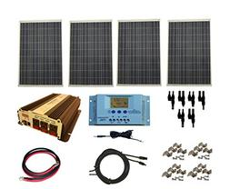 WindyNation Complete 400 Watt Solar Panel Kit with 1500 Watt
