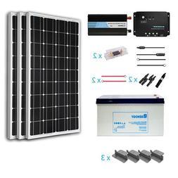 Renogy 300 Watts 12 Volt Complete Solar Panel kit Monocrysta