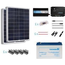 Renogy 200 Watts 12 Volt Complete Solar Panel kit Polycrysta