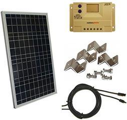 Complete 30 Watt Solar Panel Kit: 30W Polycrystalline Solar