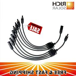 RICH SOLAR Connectors Y Branch 1 to 4 Parallel Adapter Cable