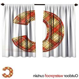 BlountDecor Letter CSUN Block Outdoor Curtain W72 x L72 Vint