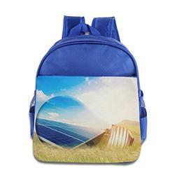 FYW Cute Light Bulb And Solar Panels Children School Bag Bac