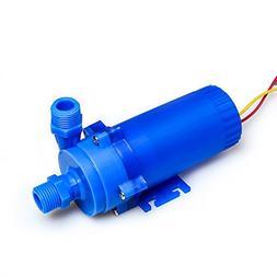 NUZAMAS 12V 85W DC Pump 221GPH, 26.2ft Lift Solar Hot Water