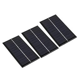 uxcell 3Pcs DC 6V 1W Rectangle Energy Saving Mini Solar Cell