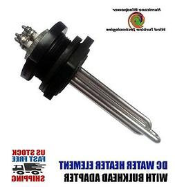 DC Water Heater Element 12 Volt 600 Watt w/Bulkhead Adapter