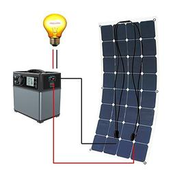 ECO LLC DC12V/AC110V Solar System include 100W Mono Solar Pa
