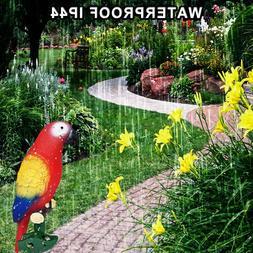 DC156 Parrot Night Lights In Garden Path <font><b>Solar</b><