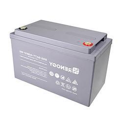 Renogy Deep Cycle AGM Battery 12 Volt 100Ah for RV, Solar Ma