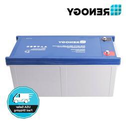 Renogy 200Ah 12V 12 Volt Deep Cycle Pure GEL Battery Solar R