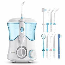 Dental Flosser 600ml Water Large 9 Tips Waterproof Teeth Cle