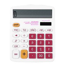 Desktop Calculator Solar and Battery Dual Power Electronics