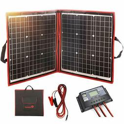 DOKIO 100 Watts 12 Volts Monocrystalline Foldable Solar Pane