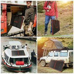 DOKIO 80 watt 12 volt Folding Solar Panel Kit for Camping