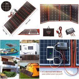 Dokio Black Solar Panels 200W  18V China Foldable+12/24V Con