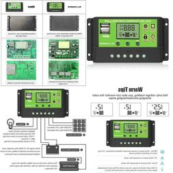 Allpowers Dual Usb 20A Solar Charge Controller 12V/24V Auto