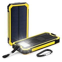 Fullfun 12000mAh LED Dual USB Ports Solar Panel Power Bank C