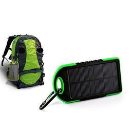 Icocol LED Dual USB Solar Mobile Phone Power Bank Case Charg
