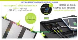 Foldable Solar Panel Battery Charger 21W Portable External P