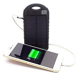 EasyPower 5,000mAh Dual USB Solar Power Bank - 5V Solar Pane