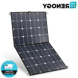 Renogy Eclipse 100W Mono Solar Panel Portable Lightweight Su