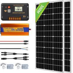 ECO 1000W Grid Tie Solar Power Kit 10pcs 100W Solar Panel Ch