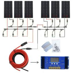 ECO 100W 200W 300W 400W 500W 1KW Solar Panel Kit for 12V Hom