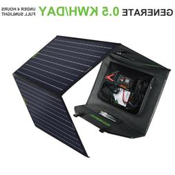 120W Foldable Solar Panel Kit Battery Generator Charger For