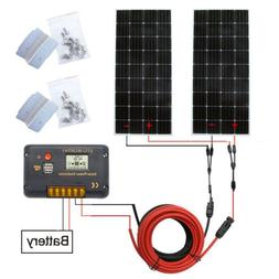 ECO-WORTHY 150W 300W Mono Solar Panel Kit or Accessories For
