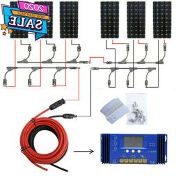 400W 500W 600W Watt Off Grid Kit 100W Solar Panel & 1KW Pure