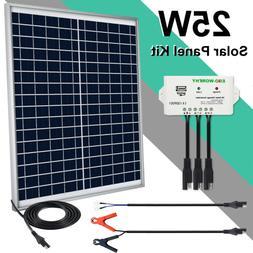 ECO-WORTHY 20W 25W Watt 12V Solar Panel + PWM Charge Control