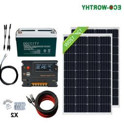 ECO 240W 200W 120W 100W 50AH 100AH Battery Complete Solar Pa