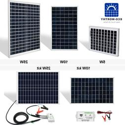 5W 10W 20W 25W 50W Watt Solar Panel 12V Off Grid Battery Cha