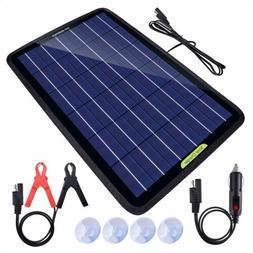ECO 5W 12V Solar Panel w/ Battery Clip 12V Car Caravan Campi