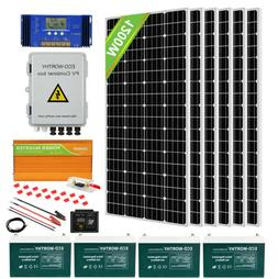 200W 400W 600W 800W Watt Solar Panel Kit for Battery Charge