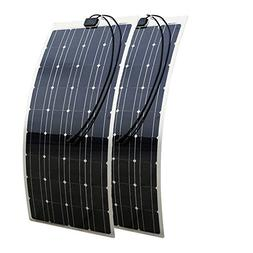 ECO LLC 200W 2PCS 100W 12V Semi-Flexible Mono Solar Panel Ce