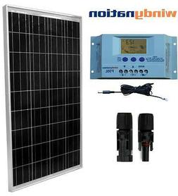 Eco Solar Kit: 100W Watts Solar Panel Off Grid 12V RV Boat H