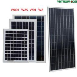 ECO 25W Solar Panel System Kits:25Watts + PWM 20A Charger Co