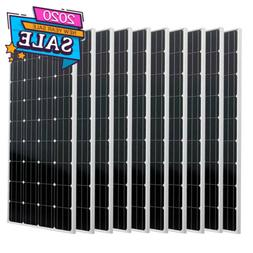 Upgraded 200Watt 400W 600W 800W 1200W 2000W Solar Panel Powe