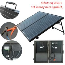 ECO-WORTHY 100W 120W Folding Solar Panel Suitcase 12V Batter