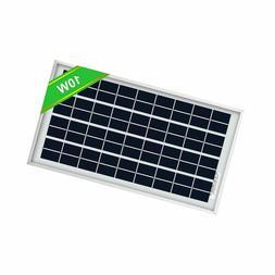 ECO-WORTHY 10W Solar Panel 10 Watt 12 Volt Pv Solar Module,S