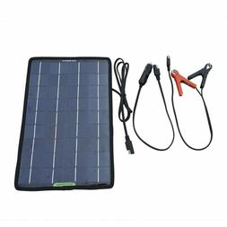 ECO-WORTHY 12 Volts 10 Watts Portable Power Solar Panel Back