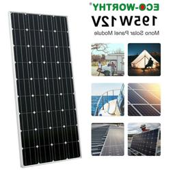 ECO-WORTHY 195 Watts 200W Solar Panel For 12V Battery Charge